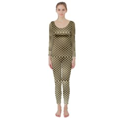Fashion Style Glass Pattern Long Sleeve Catsuit