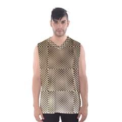 Fashion Style Glass Pattern Men s Basketball Tank Top