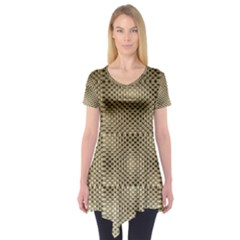 Fashion Style Glass Pattern Short Sleeve Tunic