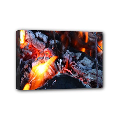 Fire Embers Flame Heat Flames Hot Mini Canvas 6  x 4
