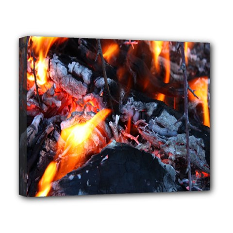 Fire Embers Flame Heat Flames Hot Deluxe Canvas 20  x 16