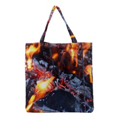Fire Embers Flame Heat Flames Hot Grocery Tote Bag
