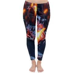 Fire Embers Flame Heat Flames Hot Classic Winter Leggings