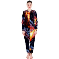 Fire Embers Flame Heat Flames Hot Onepiece Jumpsuit (ladies)