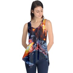 Fire Embers Flame Heat Flames Hot Sleeveless Tunic