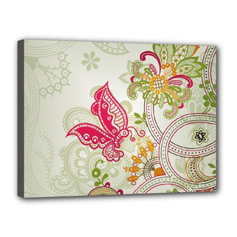 Floral Pattern Background Canvas 16  x 12