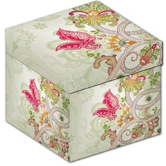 Floral Pattern Background Storage Stool 12