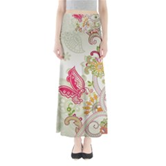 Floral Pattern Background Maxi Skirts