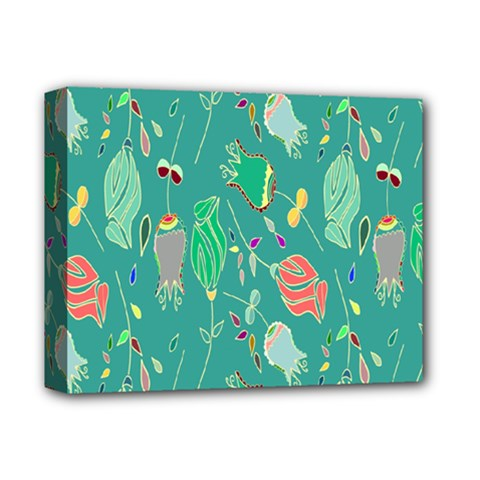 Floral Elegant Background Deluxe Canvas 14  x 11