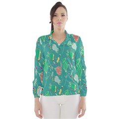 Floral Elegant Background Wind Breaker (Women)