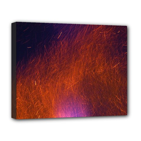 Fire Radio Spark Fire Geiss Deluxe Canvas 20  x 16