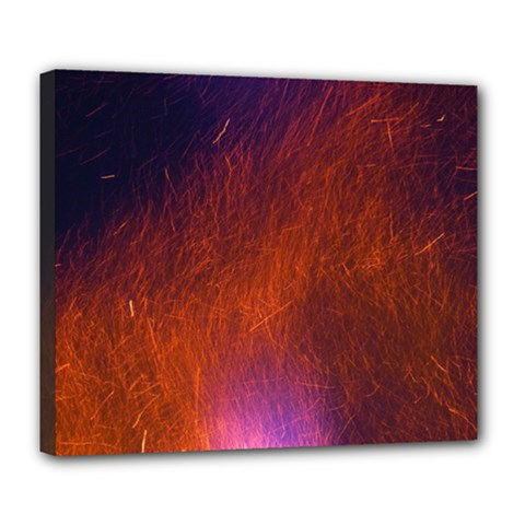 Fire Radio Spark Fire Geiss Deluxe Canvas 24  x 20