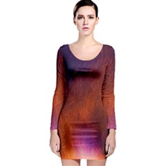 Fire Radio Spark Fire Geiss Long Sleeve Bodycon Dress