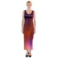 Fire Radio Spark Fire Geiss Fitted Maxi Dress