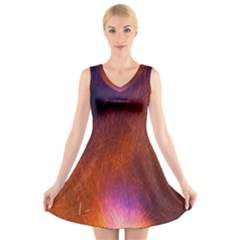 Fire Radio Spark Fire Geiss V Neck Sleeveless Skater Dress