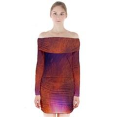 Fire Radio Spark Fire Geiss Long Sleeve Off Shoulder Dress