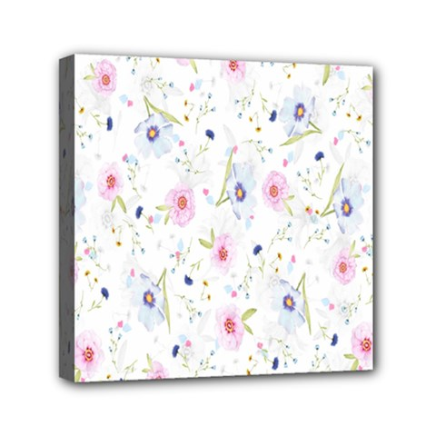 Floral Pattern Background  Mini Canvas 6  x 6