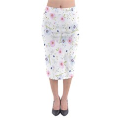 Floral Pattern Background  Midi Pencil Skirt