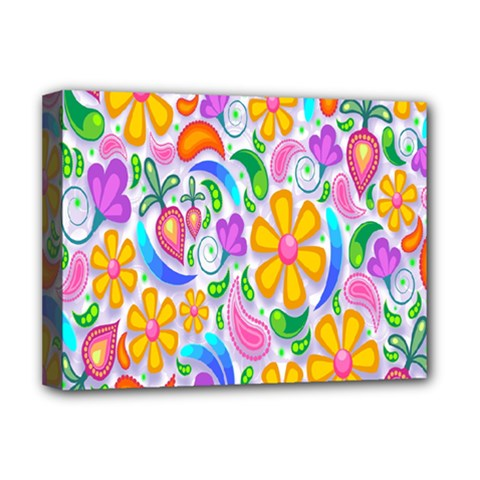 Floral Paisley Background Flower Deluxe Canvas 16  X 12