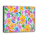 Floral Paisley Background Flower Deluxe Canvas 20  x 16   View1