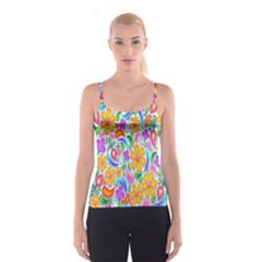 Floral Paisley Background Flower Spaghetti Strap Top