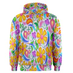 Floral Paisley Background Flower Men s Pullover Hoodie