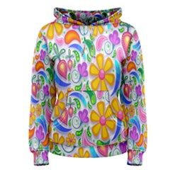 Floral Paisley Background Flower Women s Pullover Hoodie