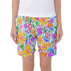 Floral Paisley Background Flower Women s Basketball Shorts