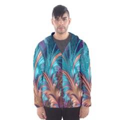 Feather Fractal Artistic Design Hooded Wind Breaker (Men)