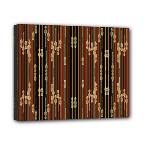 Floral Strings Pattern Canvas 10  x 8