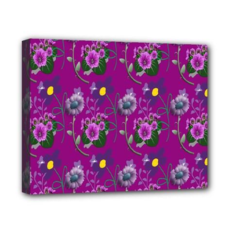 Flower Pattern Canvas 10  x 8