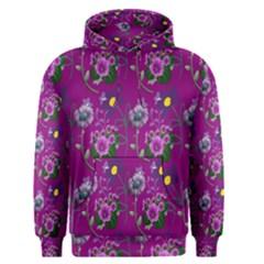 Flower Pattern Men s Pullover Hoodie