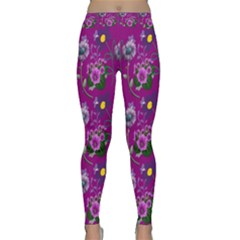 Flower Pattern Classic Yoga Leggings
