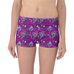 Flower Pattern Reversible Bikini Bottoms