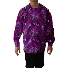Flower Pattern Hooded Wind Breaker (Kids)