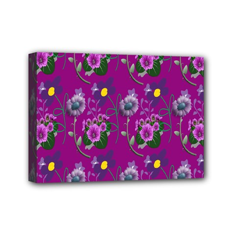 Flower Pattern Mini Canvas 7  x 5