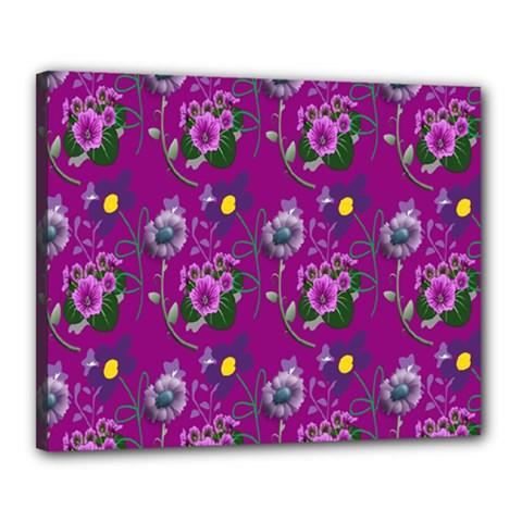 Flower Pattern Canvas 20  x 16