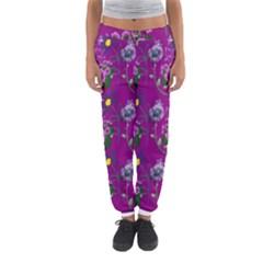 Flower Pattern Women s Jogger Sweatpants