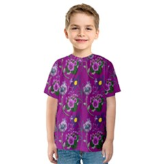 Flower Pattern Kids  Sport Mesh Tee
