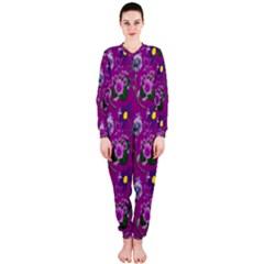 Flower Pattern Onepiece Jumpsuit (ladies)