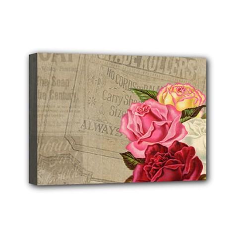 Flower Floral Bouquet Background Mini Canvas 7  x 5