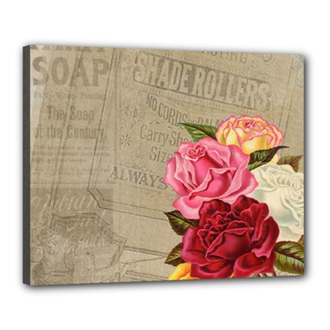 Flower Floral Bouquet Background Canvas 20  X 16