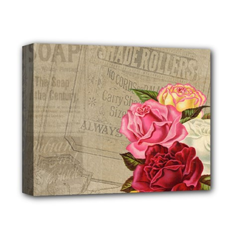 Flower Floral Bouquet Background Deluxe Canvas 14  x 11
