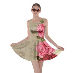 Flower Floral Bouquet Background Skater Dress