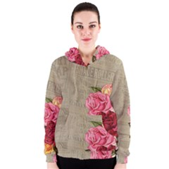 Flower Floral Bouquet Background Women s Zipper Hoodie
