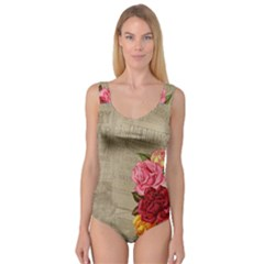 Flower Floral Bouquet Background Princess Tank Leotard