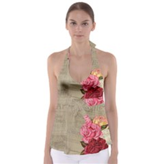 Flower Floral Bouquet Background Babydoll Tankini Top