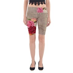 Flower Floral Bouquet Background Yoga Cropped Leggings