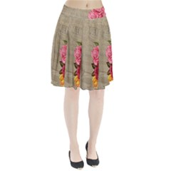 Flower Floral Bouquet Background Pleated Skirt