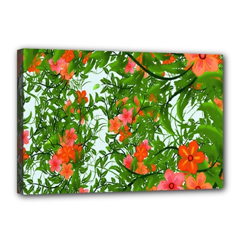 Flower Background Backdrop Pattern Canvas 18  x 12